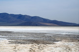 surface of the salt lake, salt marsh. north of Mongolia.