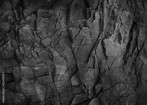 Dark grey black slate background - 122658457