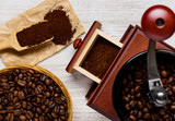 Coffee Preparation with Grinder
