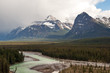 Athabasca river running through Jasper national park, Canada