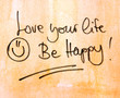 inspirational message be happy