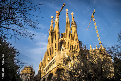 Póster Sagrada Familia in Barcelona Spain