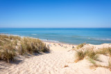 The dune and the beach of Lacanau, atlantic ocean, France - 122728044