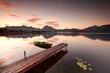 Stille am Bootssteg, Herbstmorgen