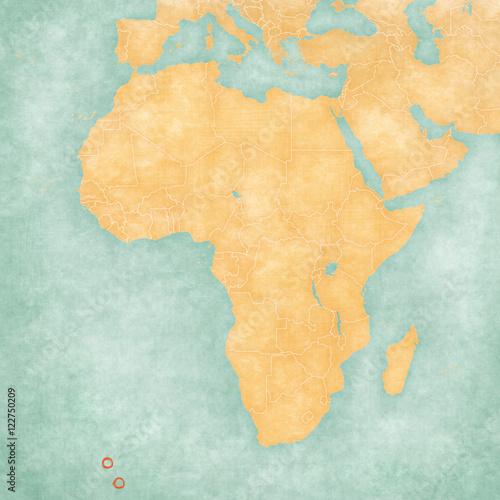 Map of Africa - Tristan da Cunha Poster