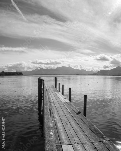 wooden jetty (255) lake chiemsee - 122753657