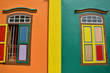 Colorful facade of building in Little India, Singapore - 122753870