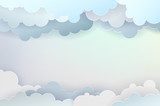 Abstract background with clouds and place for your text - 122757603