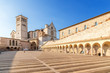 Quadro Assisi, Italy. Basilica of St. Francis, XIII century and a portico, XV century. Included in the list of UNESCO