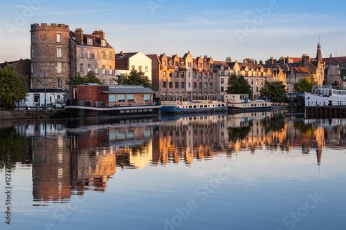 Sunset in the Shore, Leith, Edinburgh. Poster