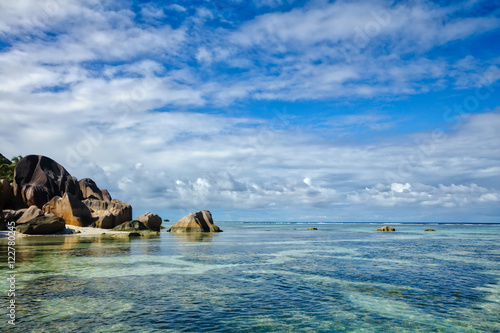 Fotobehang Seychelles islands, Island of La Digue