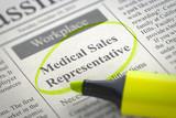 Medical Sales Representative Hiring Now. 3D.