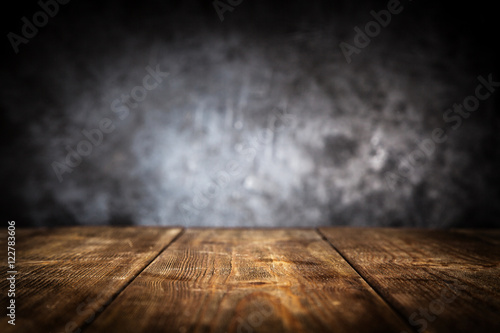 Wooden table background - 122783606