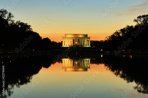Plakat Lincoln Memorial Monument at Sunset, Washington DC