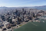 Aerial View of Downtown San Francisco Buildings and Waterfront