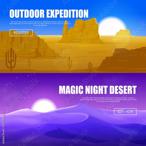 Foto op Canvas Violet Desert Horizontal Banners