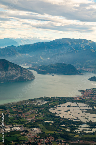 Aerial view of Italian Alps - 122809405