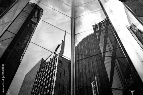 Modern architecture black and white  - 122815891