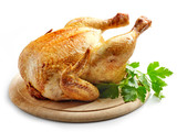 whole roasted chicken - 122820493