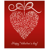 Valentine. Invitation card with red hearts