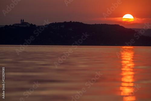 Sonnenuntergang über dem Balaton Poster