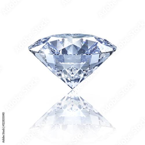 Diament na białym z refleksji
