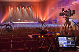 tv camera in a concert hall - 122841816