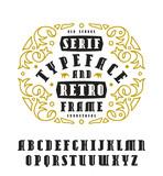 Stock vector set of serif font