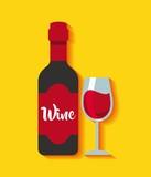wine drink beverage menu vector illustration design