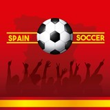 spain soccer classic icons of Spanish culture vector illustration design