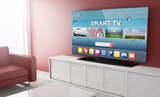 Smart tv on a living room - 122853096