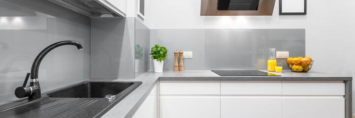 Stylish kitchen interior in white © Dariusz Jarzabek