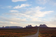 Monument Valley, highway 163, Utah, evening sunshine