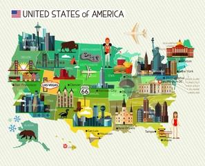 USA Travel Map.