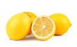 Постер, плакат: Lemons Fresh ripe lemons isolated on white background Lemon in