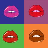 Pop-art warhol warg kolorowe wektorowe ilustracji