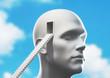 Testa con scale immaginazione o psicologia