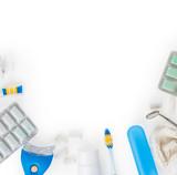 Dental hygiene set. Oral care and dental