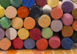 colorful artistic crayons, spectrum