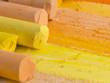yellow artistic crayons