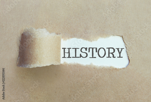 Uncovering history concept