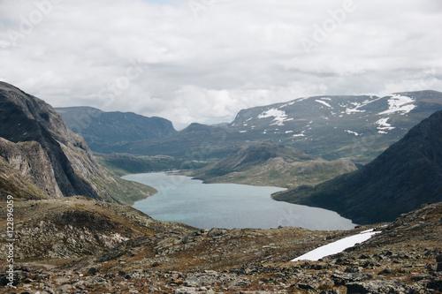 Keuken foto achterwand Nieuw Zeeland Hiking in Norway, Besseggen in Jotunheimen