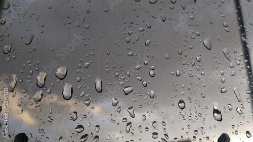 Vidro molhado da chuva