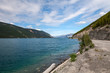 Muncho Lake- British Columbia- Canada  This very large deep blue lake is known for its great fishing as well as its beauty.