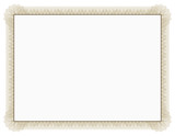 Classic style Certificate with light brown floral border