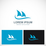shark fin ocean logo
