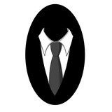 tie and shirt. black and white business vector logo