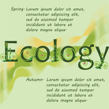 Ecology banner. Spring. Autumn. Banner design, poster, screen saver for the presentation of your project.