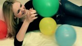 girl and balloons