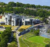 Modern Scottish Parliament Building. Edinburgh is the capital of Scotland.